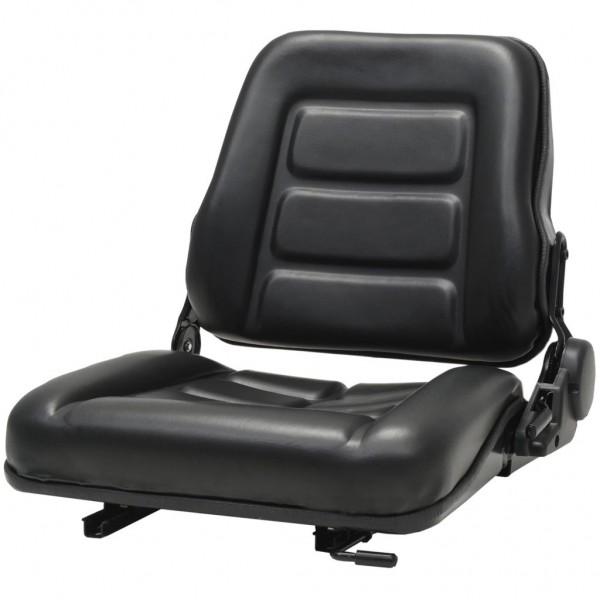Κάθισμα Περονοφόρου Ανυψωτικού/Τρακτέρ με Ρυθμιζ. Πλάτη Μαύρο  142318