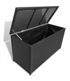 Κουτί Αποθήκευσης Κήπου Μαύρο 120x50x60 εκ. από Συνθετικό Ρατάν   42498