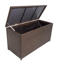 Κουτί Αποθήκευσης Κήπου Καφέ 120x50x60 εκ. από Συνθετικό Ρατάν   42499