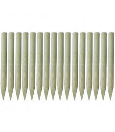 Πάσσαλοι Περίφραξης Μυτεροί 16 τεμ. 5x100 εκ. Εμποτ. Ξύλο FSC   42514