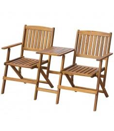 Κάθισμα Κήπου Πτυσσόμενο με Τραπέζι 140 εκ. Μασίφ Ξύλο Ακακίας  42654
