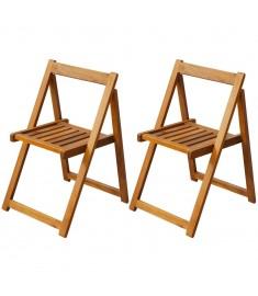 Καρέκλες Κήπου Πτυσσόμενες 2 τεμ. από Μασίφ Ξύλο Ακακίας  42660