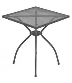 Τραπέζι Bistro Εξωτερικού Χώρου με Πλέγμα 60x60x70 εκ. Ατσάλινο  42721