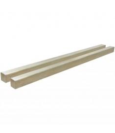 Πάσσαλοι Περίφραξης 2 τεμ. 9x9 εκ./2 μ. Εμποτ. Ξύλο Πεύκου FSC   42954