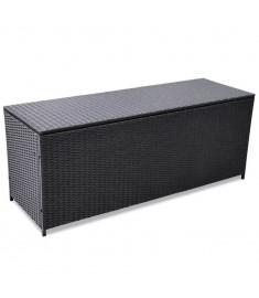 Κουτί Αποθήκευσης Κήπου Μαύρο 150x50x60 εκ. από Συνθετικό Ρατάν  43134