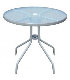 Τραπέζι Εξωτερικού Χώρου Στρογγυλό Γκρι 80 x 71 εκ.  43316