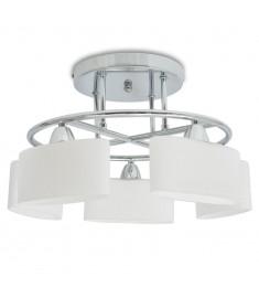 Φωτιστικό Οροφής Ελλειψοειδή Γυάλινα Καπέλα για 5 Λαμπτήρες Ε14   50494