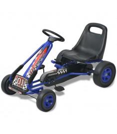 Go Kart με Πετάλια με Ρυθμιζόμενο Κάθισμα Μπλε  80152