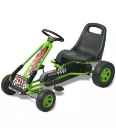 Go Kart με Πετάλια με Ρυθμιζόμενο Κάθισμα Πράσινο  80153