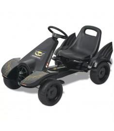 Go Kart με Πετάλια με Ρυθμιζόμενο Κάθισμα Μαύρο   80156