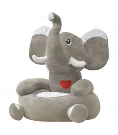 Πολυθρόνα Παιδική Ελέφαντας Γκρι Λούτρινη  80159