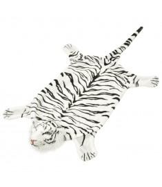 Χαλί Τίγρης Λευκό 144 εκ. Βελουτέ