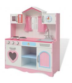 Κουζίνα Παιδική Ροζ και Λευκή 82 x 30 x 100 εκ. Ξύλινη  80179