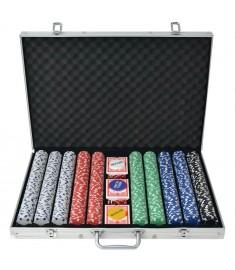 Σετ Πόκερ με 1000 Μάρκες από Αλουμίνιο  80183