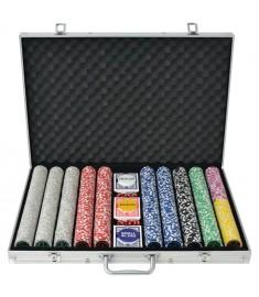 Σετ Πόκερ με 1000 Μάρκες Laser από Αλουμίνιο  80185