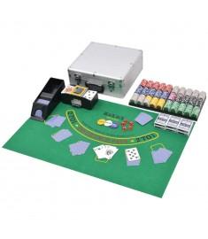 Σετ Πόκερ/Blackjack Συνδυαστικό με 600 Μάρκες Laser Αλουμίνιο  80186