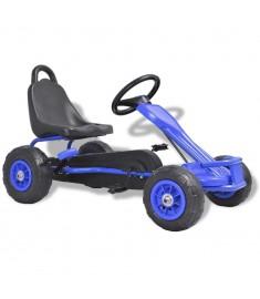 Go Kart με Πετάλια και Λάστιχα Πεπιεσμένου Αέρα Μπλε  80198