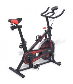 Ποδήλατο Γυμναστικής Spin με Αισθητήρες Παλμών Κόκκινο/Μαύρο   91190