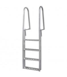 Σκάλα Πισίνας με 4 Σκαλοπάτια 170 εκ. από Αλουμίνιο  91197