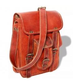 Τσάντα Ώμου Καφέ από Γνήσιο Δέρμα για Laptop 7 Ιντσών  131537
