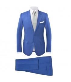 Κοστούμι Ανδρικό Δύο Τεμαχίων Μπλε Ρουά Μέγεθος 46  131614