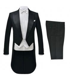 Κοστούμι Ανδρικό Επίσημο/Φράκο Δύο Τεμαχίων Μαύρο Μέγεθος 56   131649