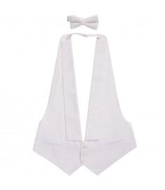 Σετ Γιλέκο Ανδρικό και Παπιγιόν White Tie Μέγεθος Medium  132057