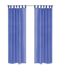 Κουρτίνες Βουάλ 2 τεμ. Μπλε Ρουά 140 x 175 εκ.  132245