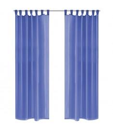 Κουρτίνες Βουάλ 2 τεμ. Μπλε Ρουά 140 x 245 εκ.  132247