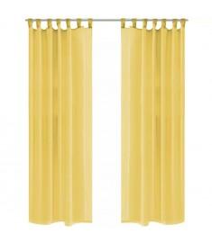Κουρτίνες Βουάλ 2 τεμ. Κίτρινες 140 x 225 εκ.  132249