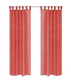 Κουρτίνες Βουάλ 2 τεμ. Κόκκινες 140 x 225 εκ.  132252