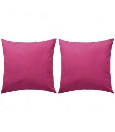 Μαξιλάρια Εξωτερικού Χώρου 2 τεμ. Ροζ 45 x 45 εκ.