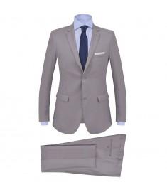 Κοστούμι Ανδρικό Επαγγελματικό 2 τεμ. Ανοιχτό Γκρι Μέγεθος 48  132387