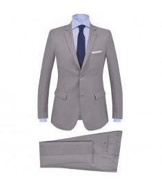 Κοστούμι Ανδρικό Επαγγελματικό 2 τεμ. Ανοιχτό Γκρι Μέγεθος 52  132389