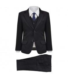 Κοστούμι Παιδικό Επίσημο Τριών Τεμαχίων Μαύρο Μέγεθος 128/134    132395