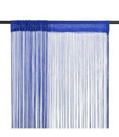 Κουρτίνες με Κρόσσια 2 τεμ. Μπλε 140 x 250 εκ.  132407