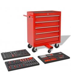 Εργαλειοφόρος Τροχήλατος με 269 Εργαλεία Κόκκινος Ατσάλινος   142247