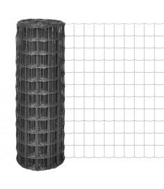 Συρματόπλεγμα Γκρι 10 x 0,8 μ. Ατσάλι με Πλέγμα 100 x 100 χιλ.
