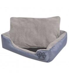 Κρεβάτι Σκύλου με Επενδυμένο Μαξιλάρι Γκρι S  170413