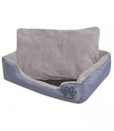 Κρεβάτι Σκύλου με Επενδυμένο Μαξιλάρι Γκρι L  170415