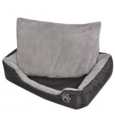 Κρεβάτι Σκύλου με Επενδυμένο Μαξιλάρι Μαύρο L  170421