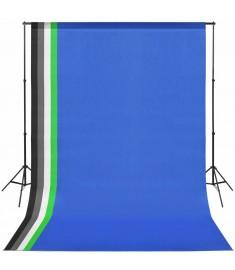 Κιτ Στούντιο με 5 Χρωματιστά Φόντα & Ρυθμιζόμενη Βάση Στήριξης   190205
