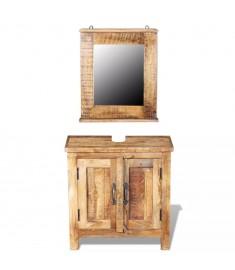 Έπιπλο Μπάνιου με Καθρέφτη Ξύλο Μάνγκο  243462