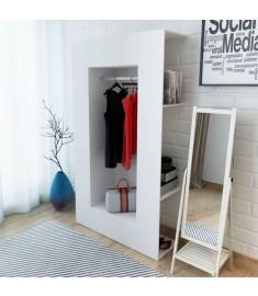 Ντουλάπα Λευκή 106 x 36,5 x 192 εκ. από Μοριοσανίδα  243665