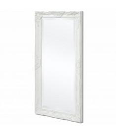 Καθρέφτης Επιτοίχιος με Μπαρόκ Στιλ Λευκός 100 x 50 εκ.   243679