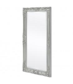 Καθρέφτης Επιτοίχιος με Μπαρόκ Στιλ Ασημί 100 x 50 εκ.   243681