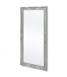 Καθρέφτης Επιτοίχιος με Μπαρόκ Στιλ Ασημί 120 x 60 εκ.   243685
