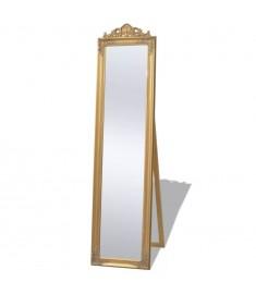 Καθρέφτης Επιδαπέδιος με Μπαρόκ Στιλ Χρυσός 160 x 40 εκ.   243692