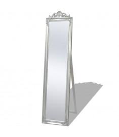 Καθρέφτης Επιδαπέδιος με Μπαρόκ Στιλ Ασημί 160 x 40 εκ.   243693