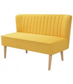 Καναπές Κίτρινος 117 x 55,5 x 77 εκ. Υφασμάτινος   244074
